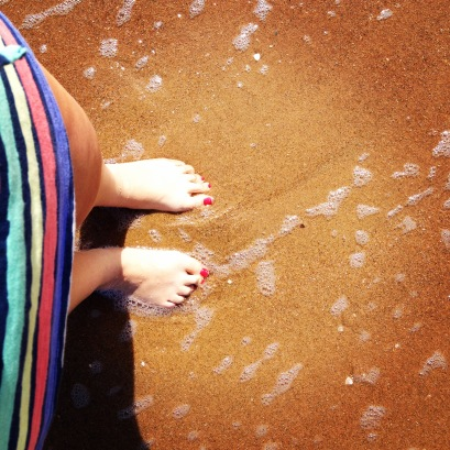 Standing in the Indian Ocean at Cape Vidal