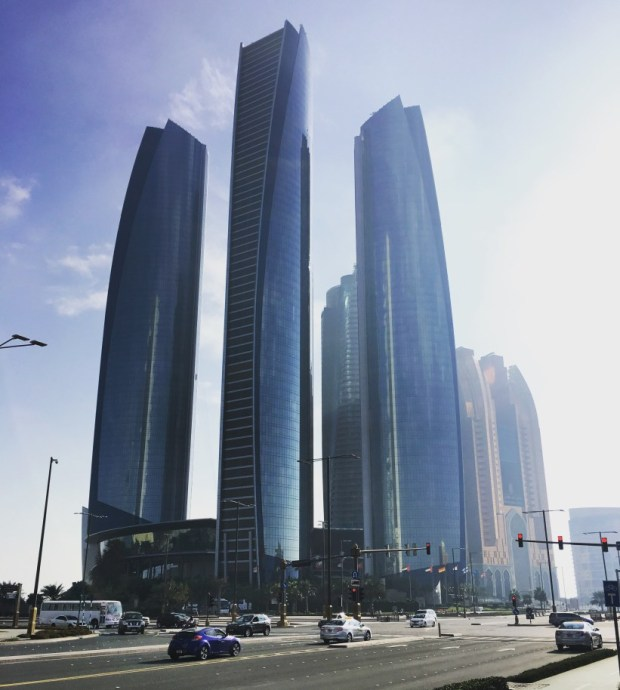 Abu Dhabi is a wonderful mix of beach, desert and sky scrapers.