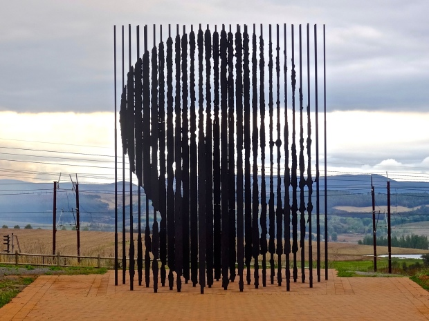 This monument indicates the site at which Mandela was captured.