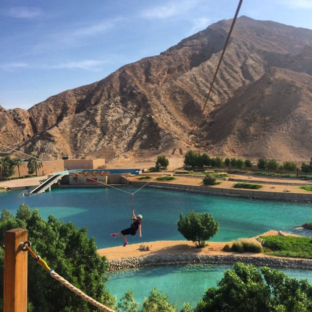 zip lining in the UAE